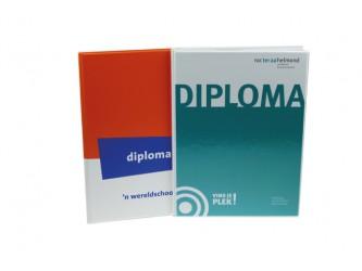 Bedrukte A4 Diplomamap